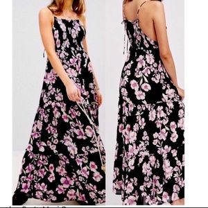 FREE PEOPLE GARDEN PARTY MAXI FLORAL DRESS S